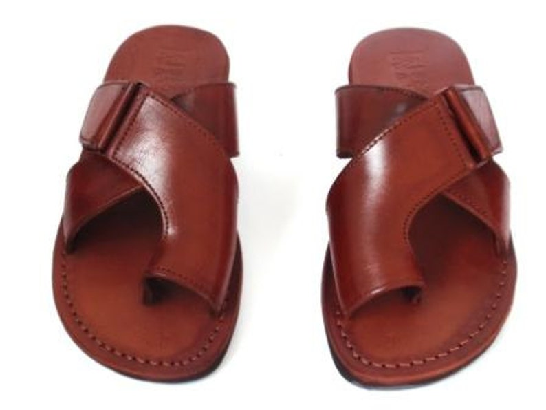 706c968b8 Brown Greek style Sandals Handmade Leather Spartan Sandals