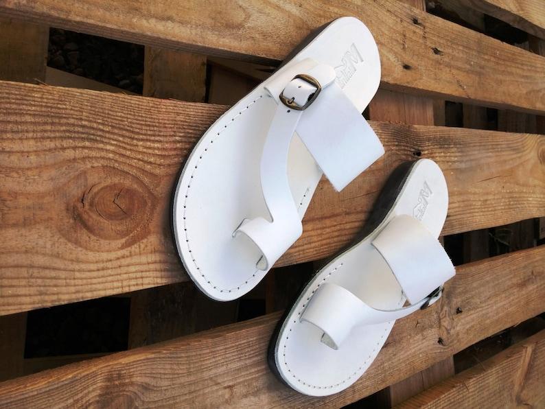569c473c53643 Men Jesus Leather Summer Sandals, Black Elegant Strappy Men Sandals,  Spartan Grecian Roman Ancient Classic Sandals, Everyday Sandals, ASHER