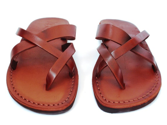 c5837a78916f8 SALE New Leather Sandals X Straps Women s Shoes Thongs