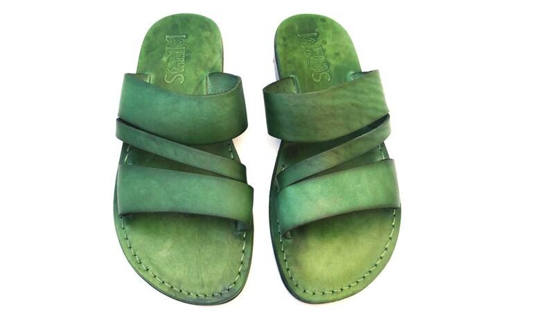 10df773400f New Men s Leather Hermes Flat Summer Sandals Greek style