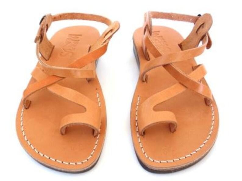 030fe2ebfe1 Toe Ring Summer Jesus Sandals for Men Men s Leather Flats