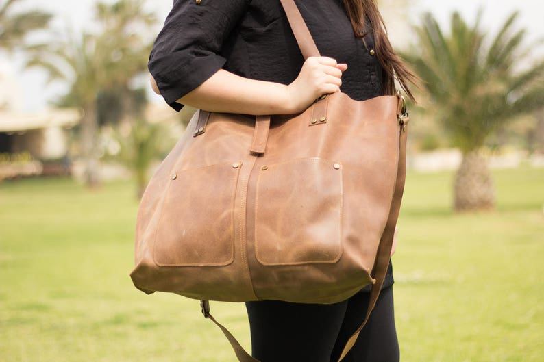 Leather Tote Woman FREE EXPRESS SHIPMENT Large Leather Tote Leather Tote Bag Tote Bag Leather Leather Tote Tote bag