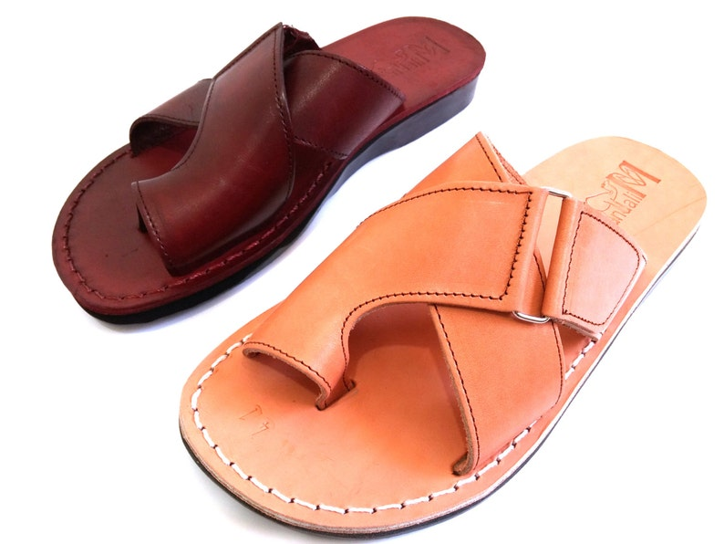 7c55836fdb911 Summer Leather Sandals Handmade Thongs Sandals for Men Jesus
