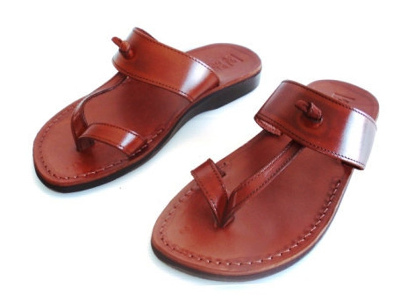 372e4454fbbda Brown Leather Sandals, EMPIRE, Womens Shoes, Jesus Sandals, Thongs, Flip  Flops, Slides, Slippers, Biblical Sandals
