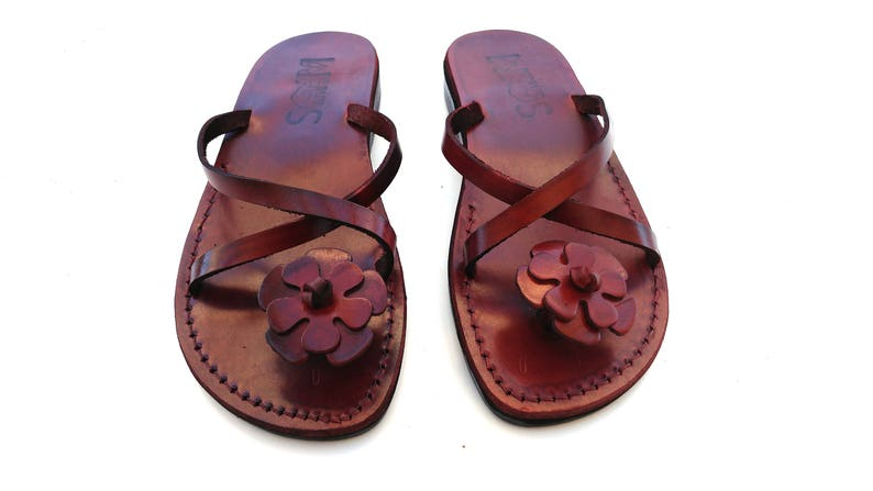 44c1d7d15d48 Brown Leather Women s Sandals Elegant Comfortable Classic