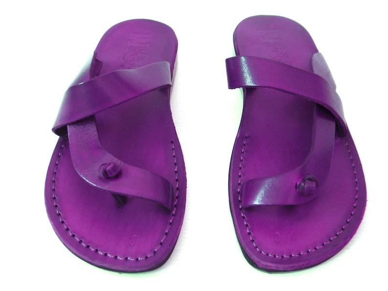Classic Flats Thong Spartan Slide Sandals ODELYA Violet Summer Beach Women/'s Flip Flops Sandals Grecian Summer Roman Greek Style Sandals