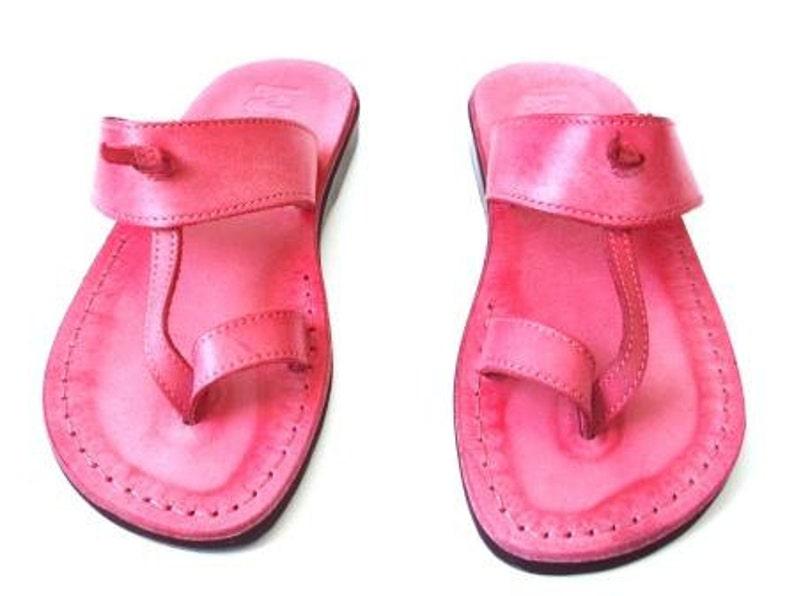 e8c3cf15714fb Pink Leather Sandals, EMPIRE, Womens Shoes, Jesus Sandals, Thongs, Flip  Flops, Slides, Slippers, Biblical Sandals