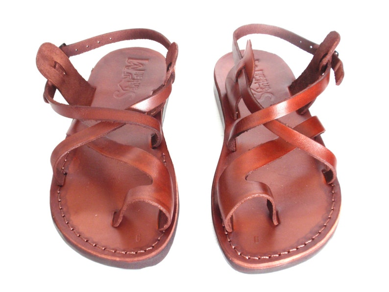 840cb6c1b6994 Brown Greek style Sandals, Handmade Grecian Roman Leather Spartan Sandals  for Women and Men, Summer Beach Sandals, Everyday Shoes, TEL AVIV
