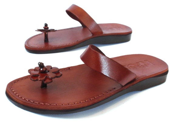 Handamde Leather Sandals, Leather Sandals Women, Summer Sandals, Women's Shoes, TOE POST, Flip Flops, Wedding Sandals, Jesus Sandals