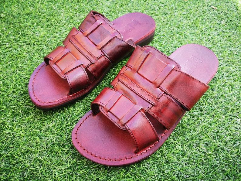 CollectionBrown 2019 Sandalsgrecian Summer SandalsBlumberg Leather Spartan Greek Beach Roman Men's New 7gYvIym6bf