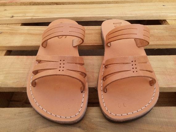 Handmade Leather Sandals for Women and Men, Summer Beach Sandals, Greek Ancient Spartan Sandals, Summer Men's ans Women's Shoes, SUNSHINE