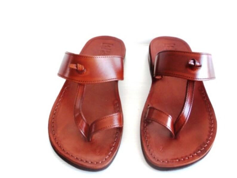 SALE EMPIRE Sandals Biblical Sandals Flip Flops Thongs Black Leather Sandals Slippers Mens Shoes Jesus Sandals