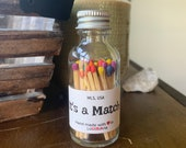 It 39 s a Match - 2 quot Apothecary Matches in Glass Jar - Matches - Matchstick - 50 Colored Tip Matches