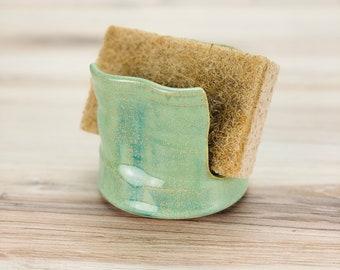 Sponge Holder (Green Glaze)