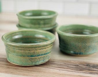 Ramekin set of 4 (Green Glaze)
