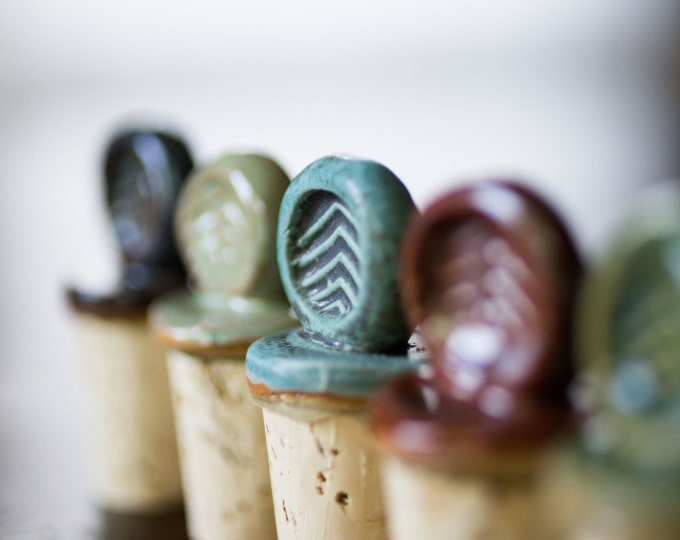Featured listing image: 4- Ceramic Wine Stoppers (Holiday Special)