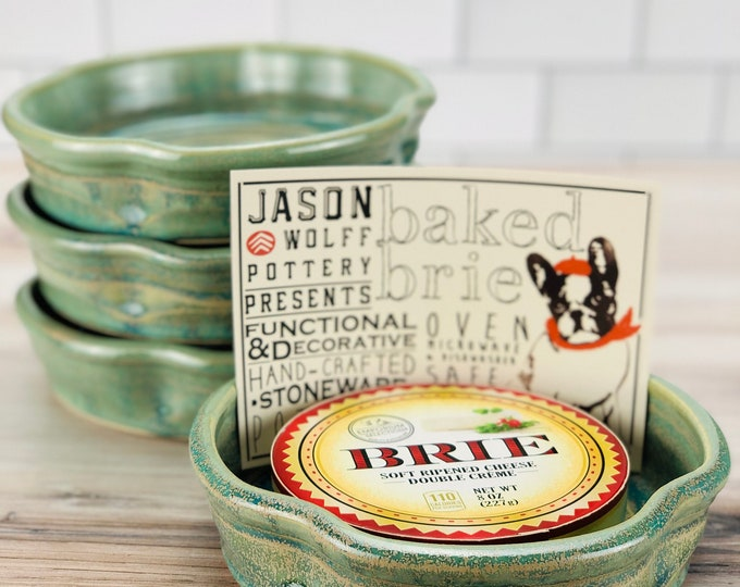 Featured listing image: Brie Baker (Green Glaze) + Recipe