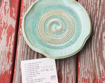 Olive Oil Dipping Tray + Recipe (Green Glaze)