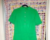 70s Green Mini Dress Oh So Retro