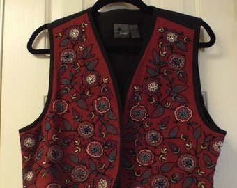 Bohemian Beaded Vest Women's Hippie Embroidered Vest Vintage Fashion