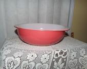 Pink Flamingo Pyrex Bowl, 1950s Vintage Pink Pyrex Casserole Dish