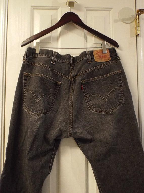 Mens Black 501 Levis Jeans, Vintage Mens Levis - image 6