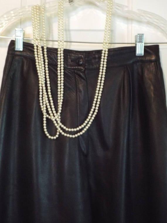 1980s Black Leather Pants
