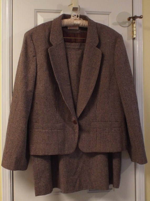 Women's Pendleton Suit , Office Vintage Suit, Houn