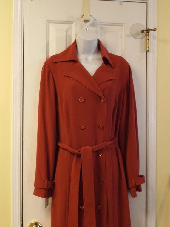 Women's Midi Dress, Dark Orange Size 12, Barrie Pl