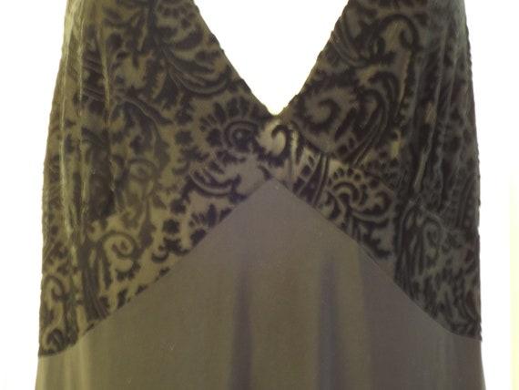 Long Black Nightgown, Vintage Women's Nightgown, V