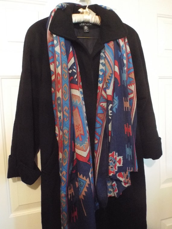 Vintage Black Swing Coat, Women's Vintage Winter C