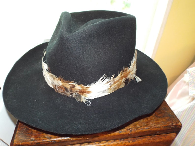 47d1dc21f28 Black Cowboy Hat by Charlie One Horse