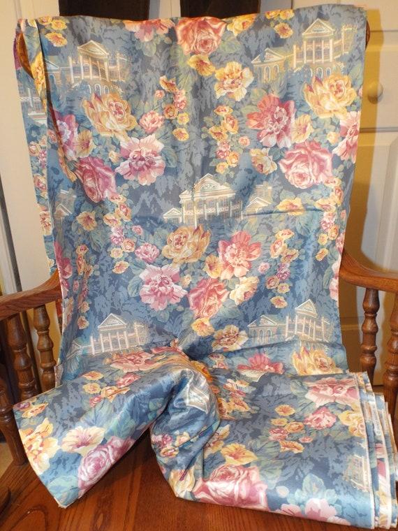 Shabby Chic Fabric Lovely Roses Vintage Interior Designer Etsy