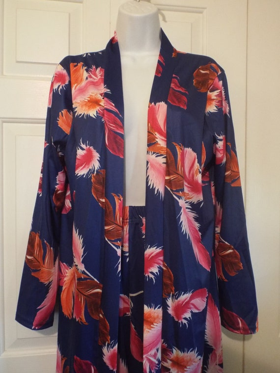 Funky Feather Lounging Robe and Pants