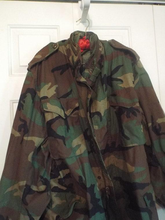 Vintage Camouflage Jacket, Military Fatigue Jacket