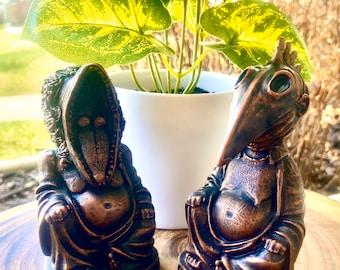 BeetleJuice,  Adam & Barbara Maitland Amusing Buddha Sculpture free shipping