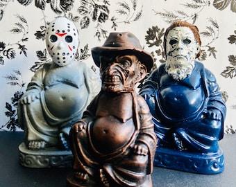 Michael Meyers, Jason Vorhees or Freddy Krueger Amusing Villain Buddhas