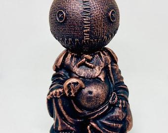 Ready to ship!! Samhain Amusing Buddha Sculpture. Trick or Treat.