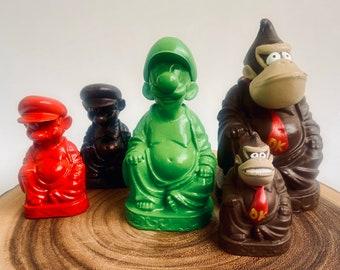 Mario, Luigi, Yoshi and Donkey Kong Amusing Buddha Sculpture