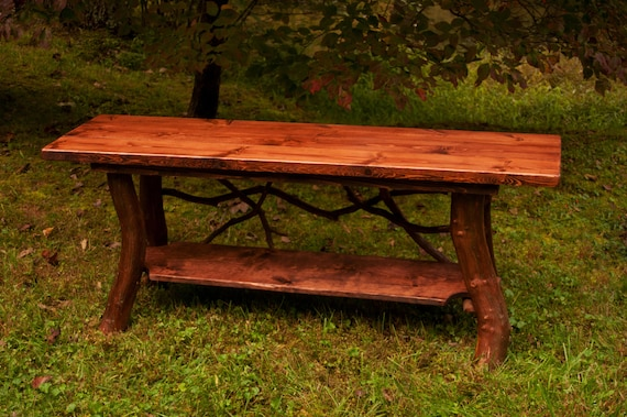 Prime Rustic Tv Stand Console Sofa Table With Shelf Log Cabin Furniture By J Wade Free Shipping Squirreltailoven Fun Painted Chair Ideas Images Squirreltailovenorg