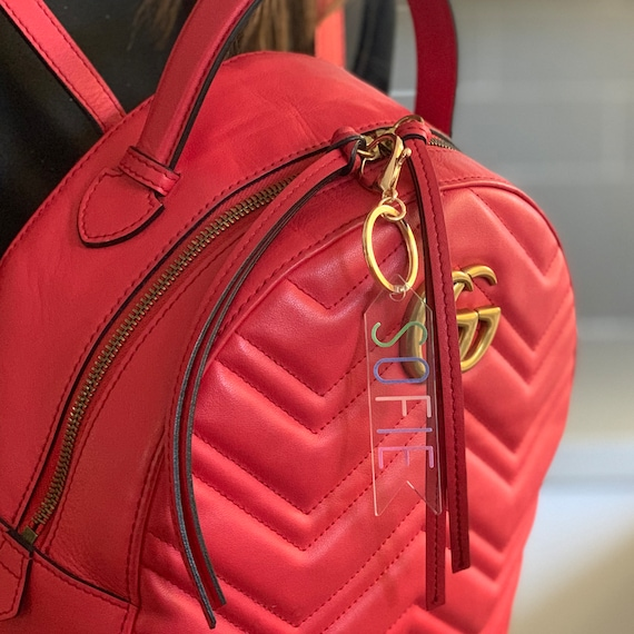 Dance Bag Backpack Sports Bag Tag Name Tag Zipper Pulls Key Chain Back to School ID Tag Engraved Bag Tag Gym Bag