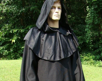 Costume Warlock Grim Reaper Ghost of Christmas Yet-to-Come Adult Robe and  Cowl Hood Handmade Halloween Masquerade Haunted House Theater fec9111e8