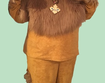 Cowardly Lion Costume Adult X Large Character Wizard of Oz Handmade & Cowardly lion | Etsy
