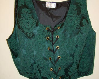Plus Size 22 Woman's Costume Vest Renaissance Wench Pirate Gypsy Ethnic New Faire Halloween Theater
