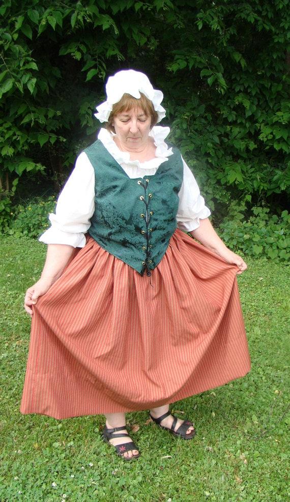 607f2087c6e Renaissance Wench or Colonial Costume Adult Plus Size 4 Piece