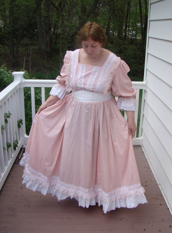 Plus Size Frontier Woman Costume Gown 1800s Little House Oklahoma Southern  Belle Old West Parade Theatre Halloween