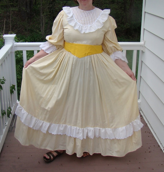Plus Size Frontier Lady Costume Gown Old West Southern Belle Handmade 1800s  Little House Oklahoma Halloween Theatre