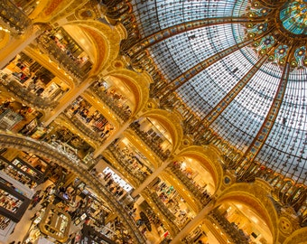 Exquisite Gold Galleries Lafayette Wall Painting Decor on Canvas Paris Beautiful Cityscape France Photography Home and Office Decor Gifts