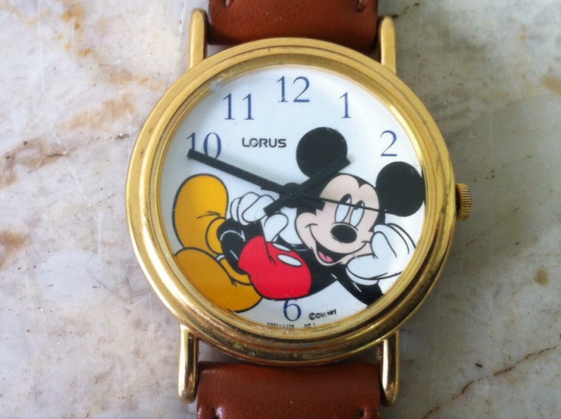 Mickey Mouse Watch Value >> Best Mickey Mouse Watch Vintage Unisex Mickey Chilling Etsy