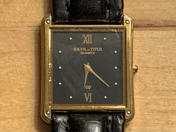 Solvil Et Titus, Vintage Watch, Mens Watch,  Recta